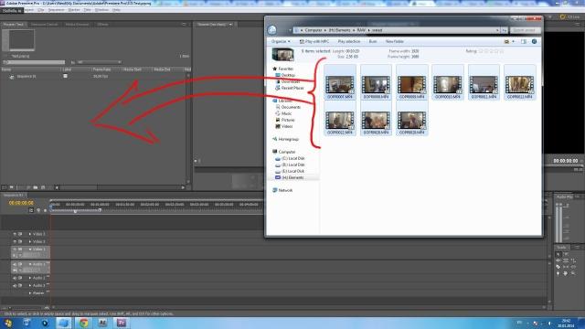 Импорт видео и аудио файлов