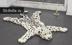 леопардовый самодельный коврик