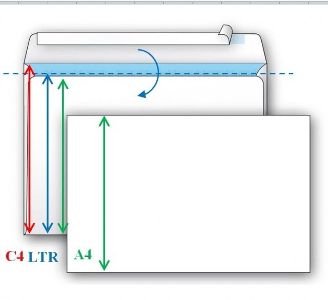 Печать конверта С4 как LTR
