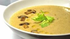 Суп-пюре с сыром и грибами