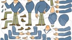 Персонажи и бэкграунды для 2D анимации