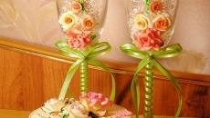 Свадебные фужеры своими руками