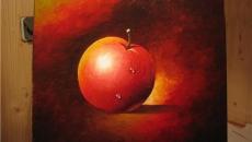 Как нарисовать поэтапно яблоко масляными красками.
